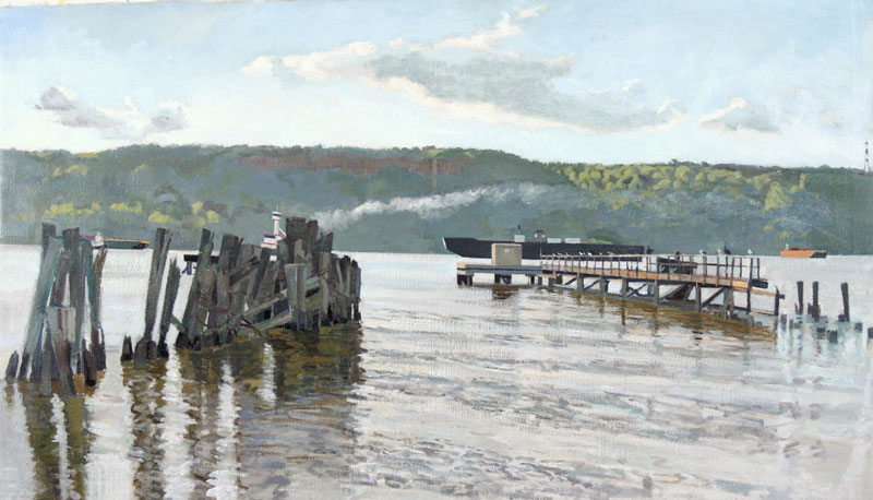 Alpine Ferry | Hudson River | Size 21 x 36 | 2009