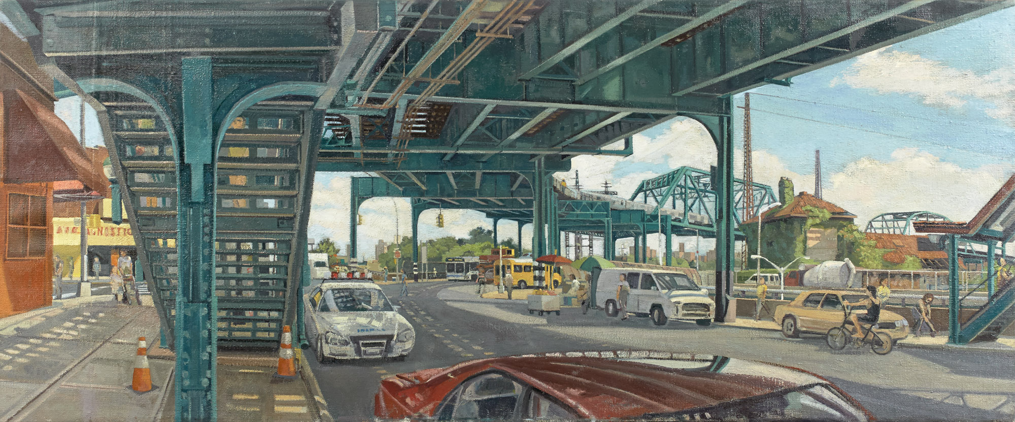 Green Transit | Oil / Linen | Size 20 x 48 in. | 2011-2012