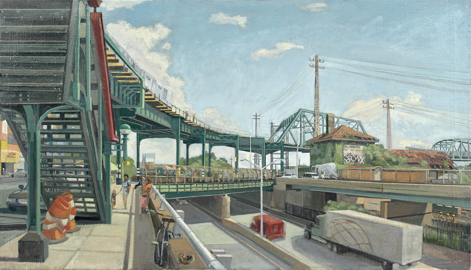 Whitlock Bridge Round | Oil / Linen | Size 19 x 33 in. | 2011