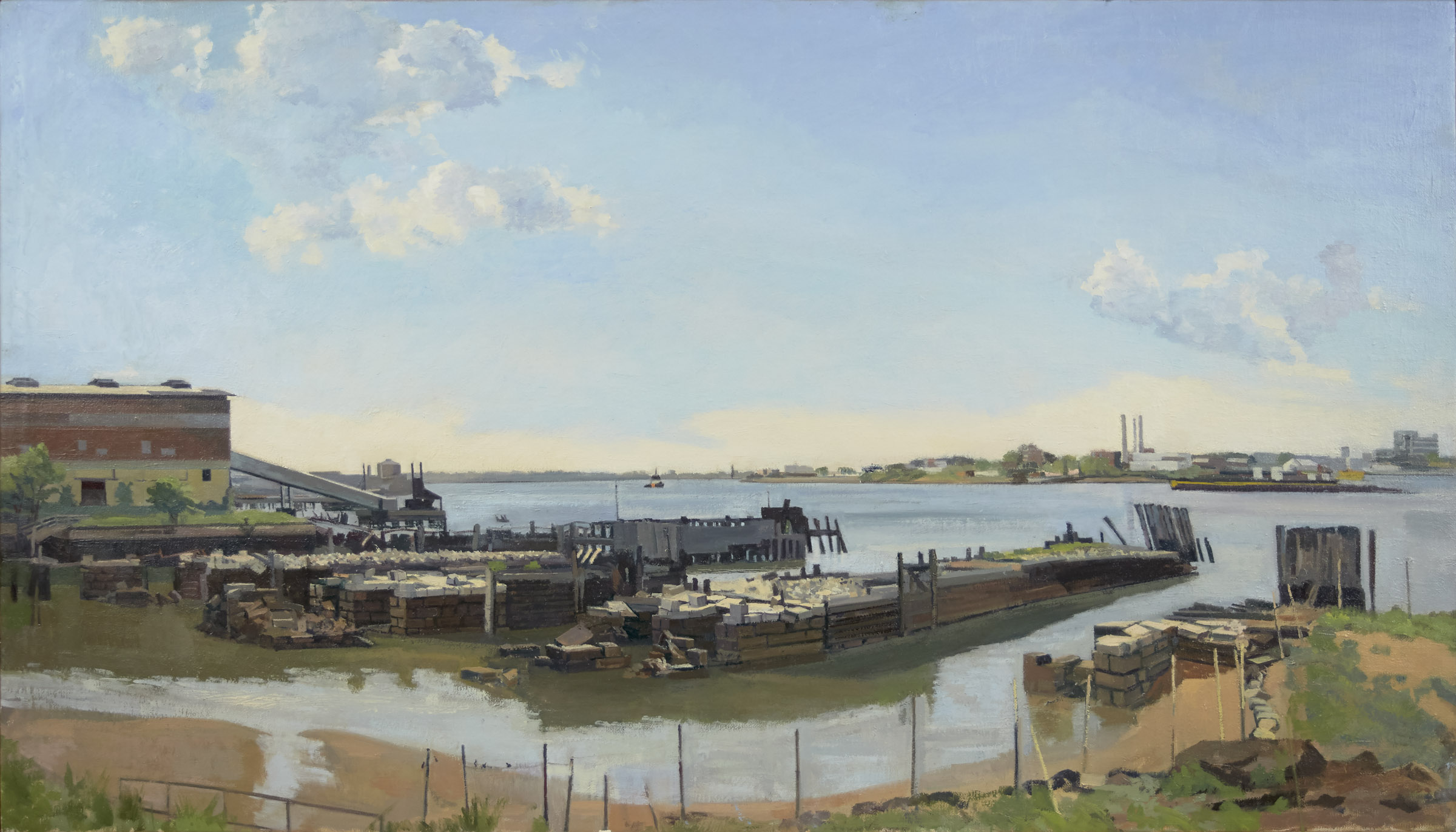 Steve's Train Barge Terminal East | Size 22 x 38 1/2 in. | 2015